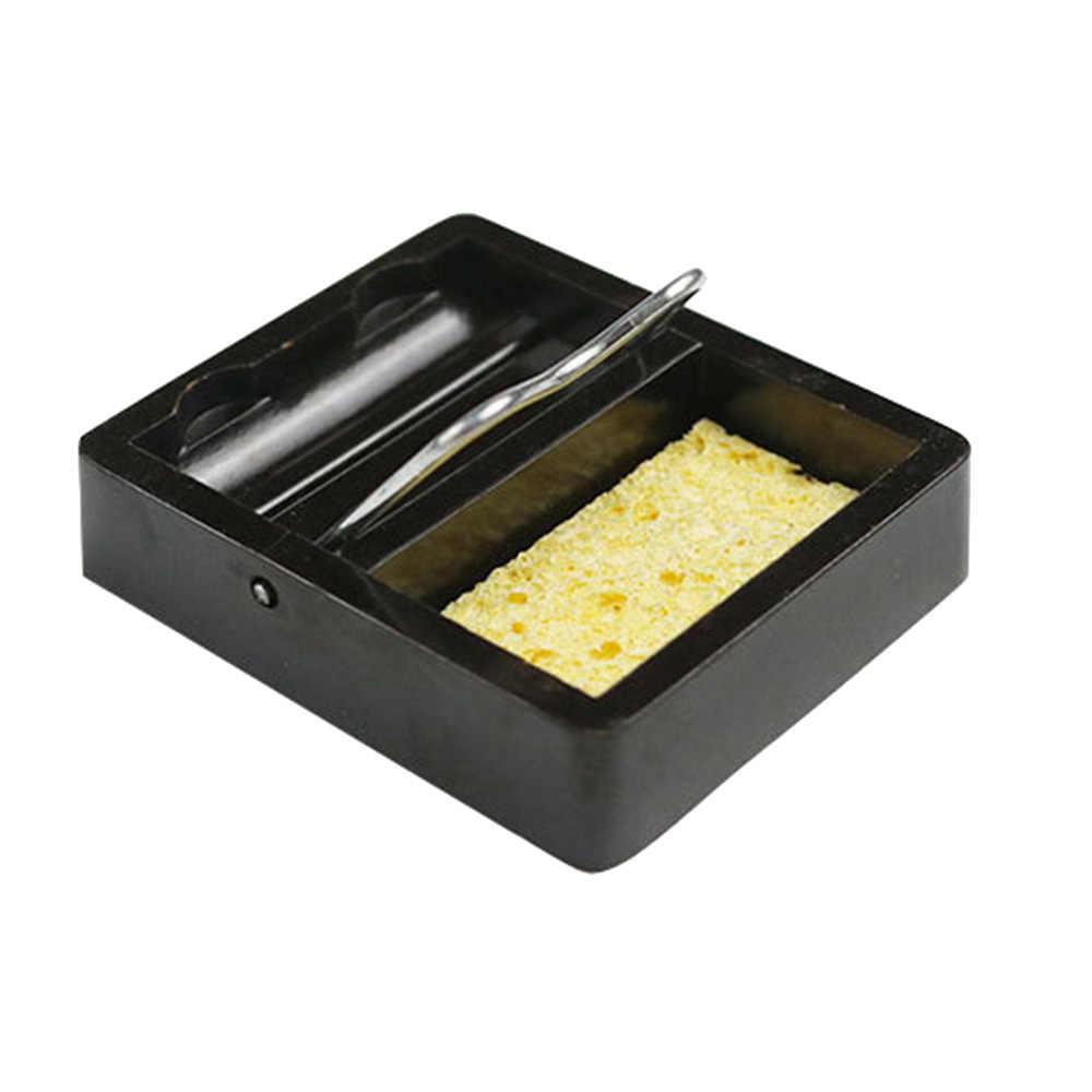 חשמלי הלחמה ברזל עם הלחמה ספוג Stand מחזיק תמיכה תחנת מתכת בסיס עבור בוטאן גז עט בצורת ריתוך לפיד