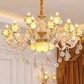 Europäischen LED kronleuchter wohnzimmer ausgesetzt lampe zink-legierung leuchten schlafzimmer beleuchtung hause leuchten Französisch hängen lichter