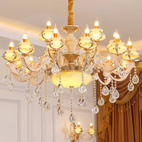 European LED chandelier living room suspended lamp Zinc alloy luminaires bedroom lighting home fixtures French hanging lights