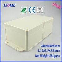 10ชิ้นจำนวนมากผนังกล่องไฟฟ้าที่มีคุณภาพสูงวัสดุabsพลาสติกกล่องแยก284*144*90mm 11.2*5.7*3.5นิ้ว