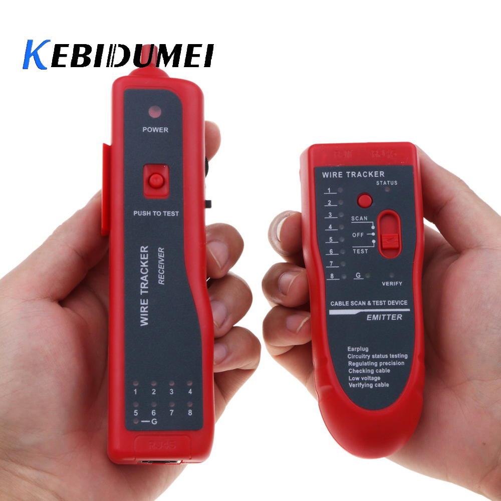 Cat5 Cat6 RJ45 Ethernet LAN Network Cable Tester Detector RJ11 Phone Telephone Wire Tracker Tracer Diagnose Tone Line Finder ethernet cable