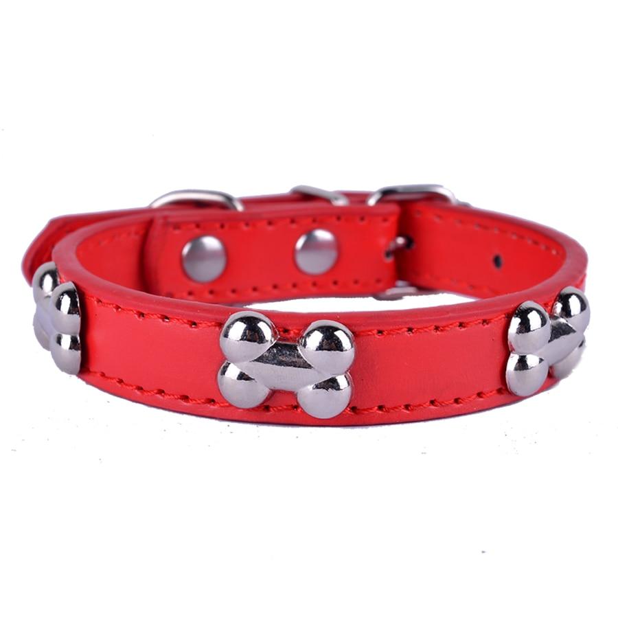 Modni rdeči vijolični črni zeleni usnjeni pas za ovratnik v obliki kosti, dodatki ovratnik za pse, potrebščine za male hišne pse