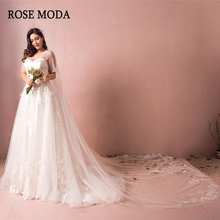 Rose Moda Wedding Dresses 2019 with Short Sleeves Gowns