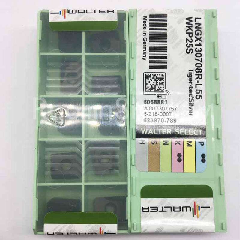 10pcs/lot GOOD QUALITY ORIGINAL MILLING TOOL LNGX130708R L55 WKP25S CARBIDE INSERTS-in Tool Parts from Tools    1
