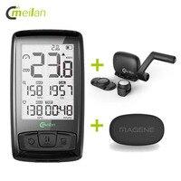 Bicycle Computer Bluetooth Heart Rate Monitor Wireless Bike Speedometer Tachometer Cadence + Speed Sensor Weather Temperature