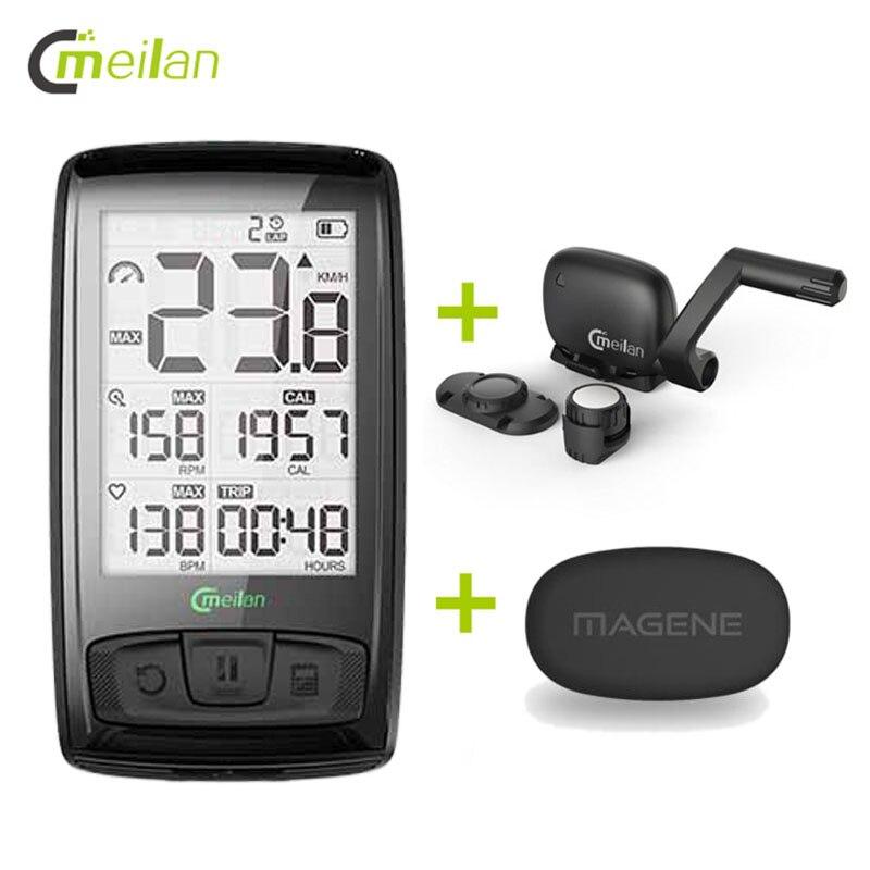 Fahrrad Computer Bluetooth Heart Rate Monitor Drahtlose Fahrrad Tachometer Tachometer Kadenz + Geschwindigkeit Sensor Wetter Temperatur