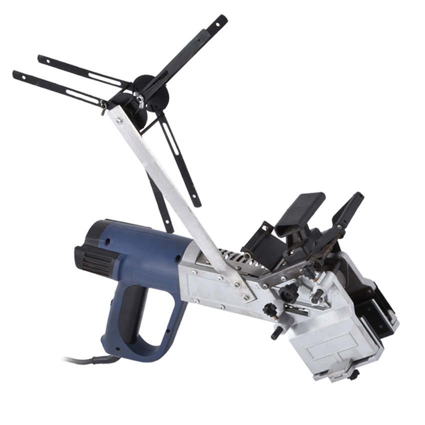 MT985 Portable Edge Banding Machine Curve Straight Manual Edge Bander Woodworking Tool With Manual Trimme and Aligner 220V/50 Hz