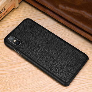 Image 4 - First layer cowhide Business Genuine Leather case cover For Iphone XS MAX XS XR X Matte Phone Case