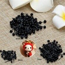 100 шт./компл. Стекло глаза 2/3/4 мм иглы для валяния Плюшевые мишки, куклы Животные в виде черных глаз мягкого плюша; аксессуары для куклы