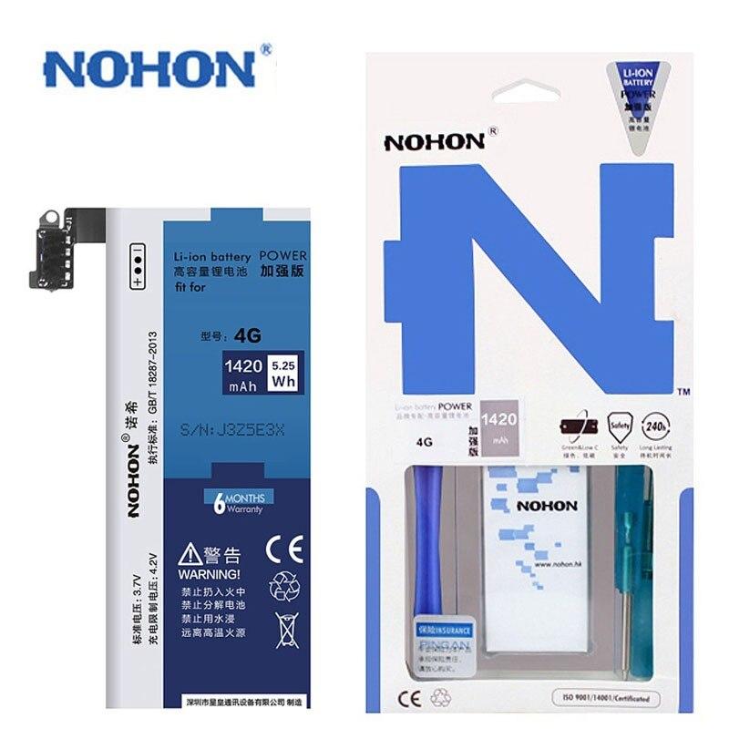 imágenes para NOHON Batería de Repuesto para Apple iPhone 4 4G Real de Alta Capacidad 3.7 V 1420 mAh li-polímero de Litio integrado en Las Baterías Con Herramientas