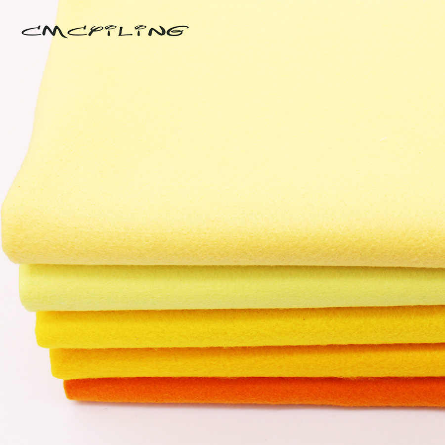 CMCYILING Yellow Series Soft Felt Fabric For Needlework DIY Sewing Dolls Crafts 1.2 MM Thickness Polyester Cloth 45*110CM