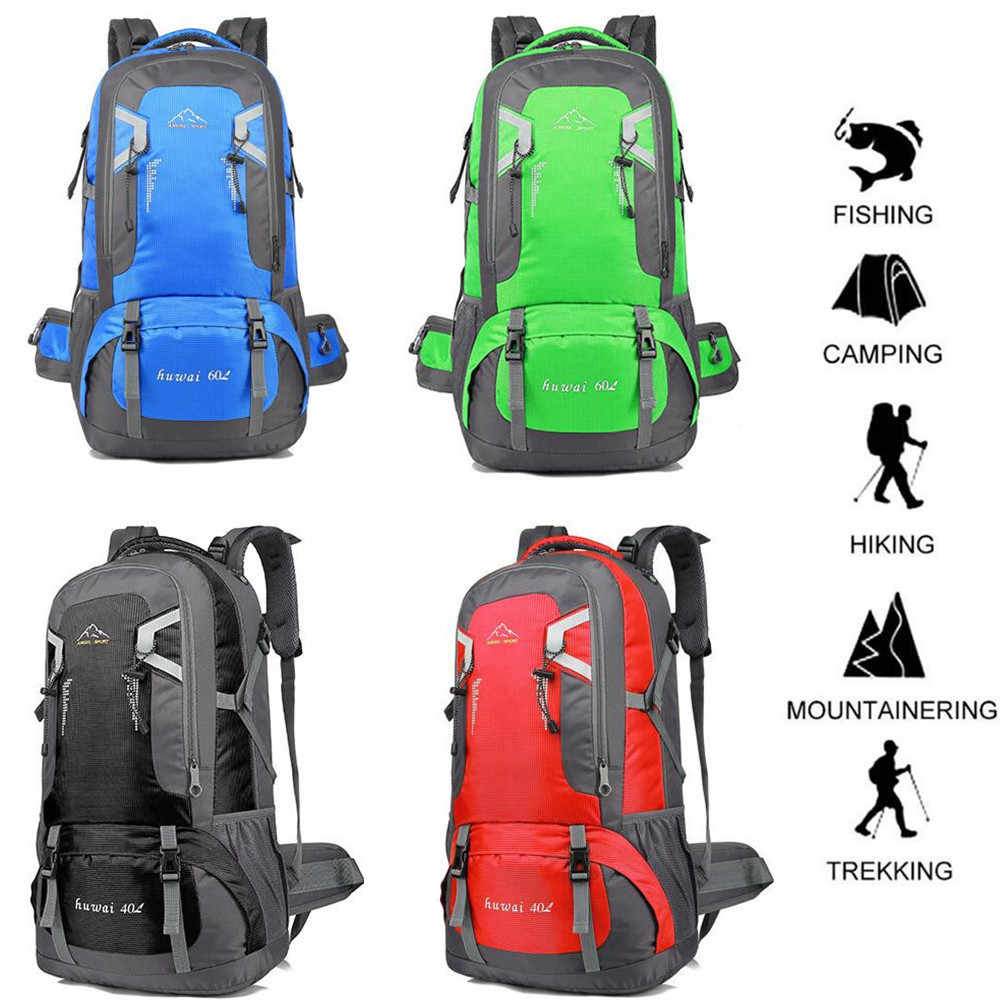 40L Waterproof Sports Backpack Large Camping Hiking Outdoor Travel Rucksack Bag