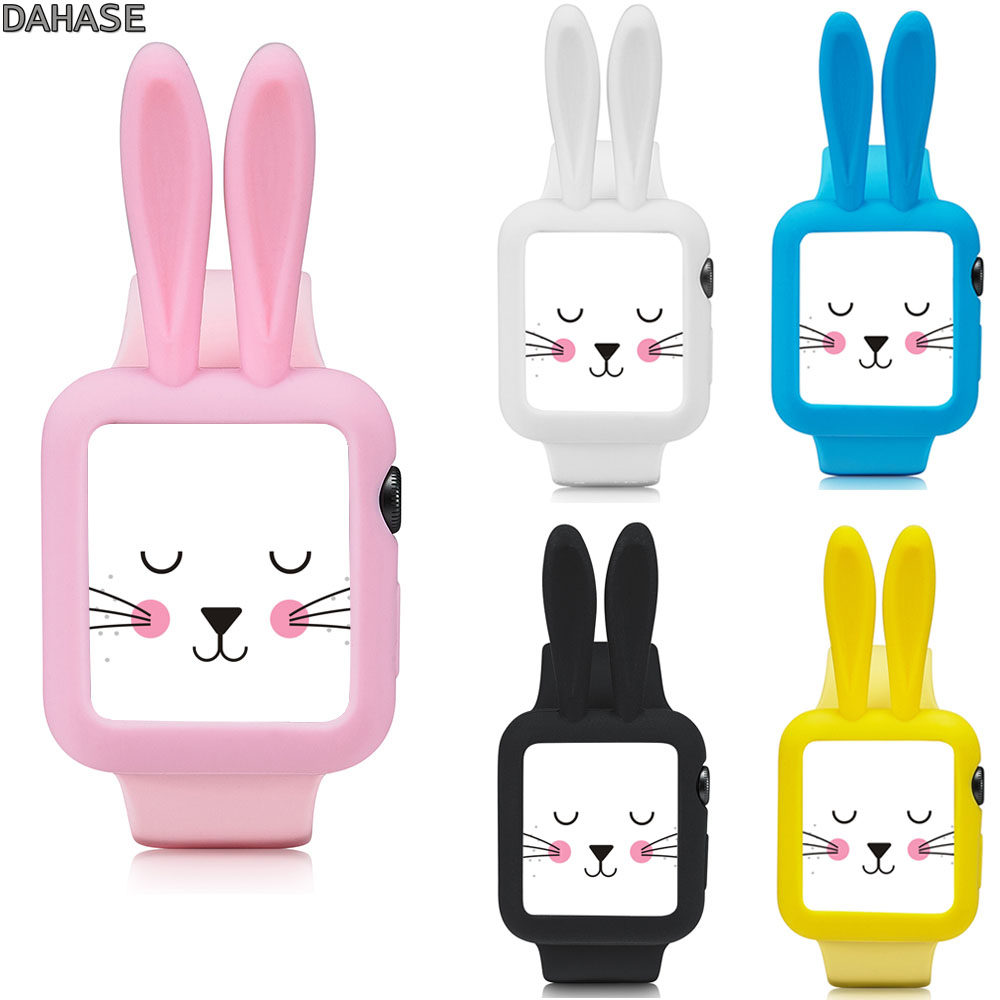 DAHASE Cute Cartoon Rabbit Bunny Soft Silicone Cover for
