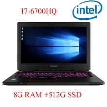 "P6-05 8G DDR4 RAM 512G SSD i7 6700HQ AMD Radeon RX560 NVIDIA GeForce GTX 1060 4GB 15.6 gaming laptop"""