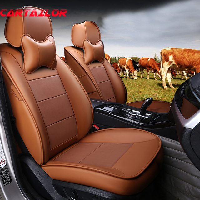 CARTAILOR Car Seat Cover Leather Cowhide Seats Protector for lexus es300 es350 es250 Seat Covers & Supports Front & Rear Styling