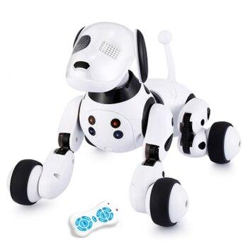 Robô cão eletrônico animal de estimação inteligente cachorro robô brinquedo 2.4g inteligente sem fio falando controle remoto presente dos miúdos para o presente aniversário