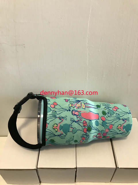 83d6f30a492a10 2016 New With Lilly Pulitzer Hard Transparent Pop Neoprene Bottle Holder  For Rtic Tumbler and YETI Tumbler 30oz/20oz Free Ship