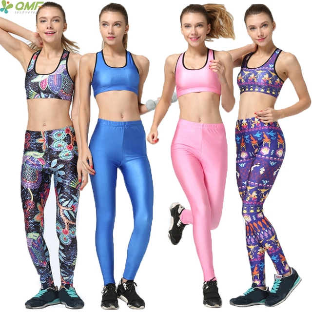 961c14afed Abstract Rural Style Women Sports Bras Lamp Of Aladdin Yoga Sets Two Piece  Candy Color Gym Running Pants Sports Set Blue Pink