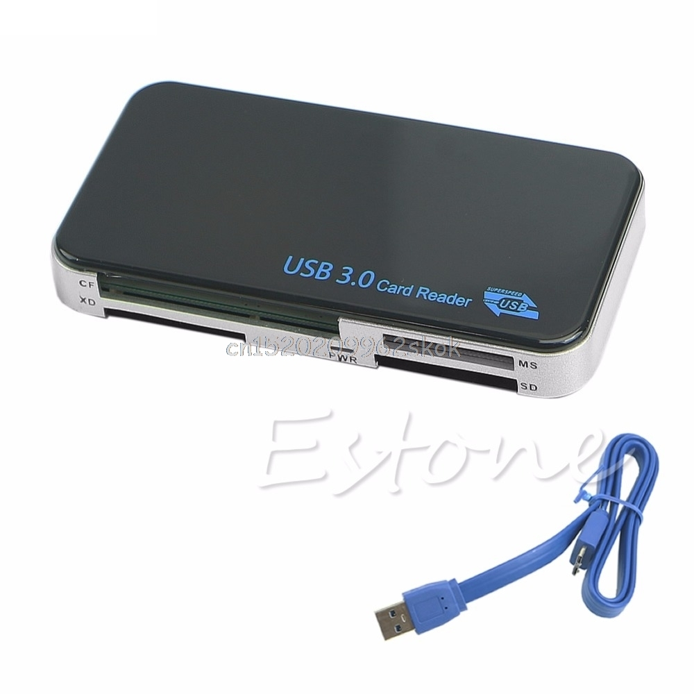 USB 3.0 Compact Flash All-in-1 Multi Memory Card Reader Adapter CF MicroSD MS XD #H029#