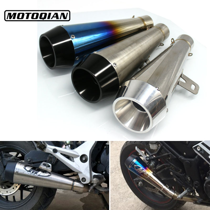 Universal 51mm Motorcycle M4 Modified Exhaust Muffler Escape Pipe Case For Kawasaki MT03 MT07 MT09 FZ6 FZ1 YBR125 Accessories
