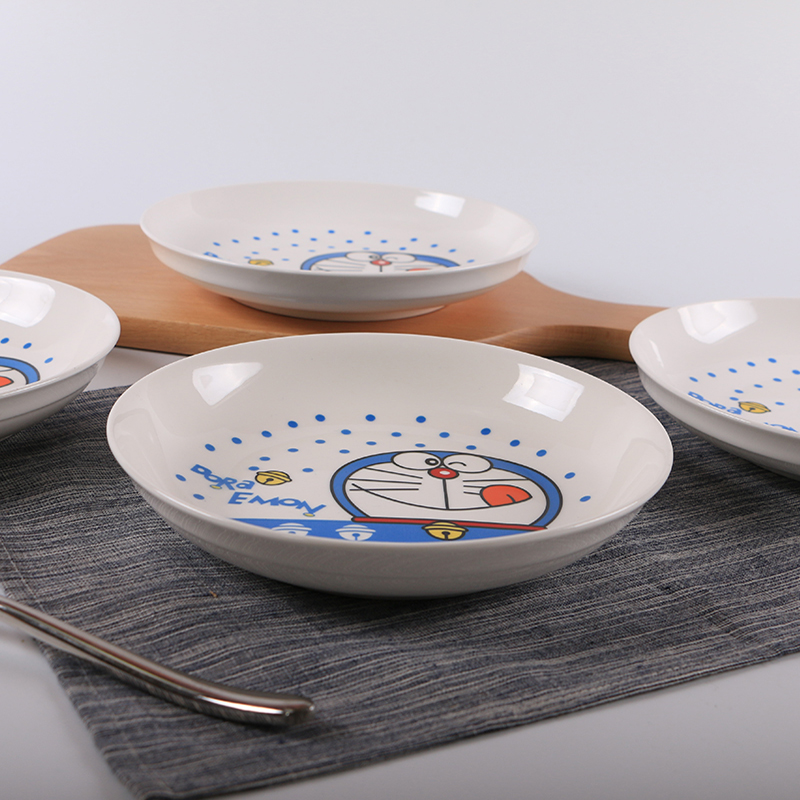 Set of 4pcs Round Ceramic Plate Dishes Different Kinds Dinner Plate Dish Set 8 inch Dishes 029-in Dishes u0026 Plates from Home u0026 Garden on Aliexpress.com ... & Set of 4pcs Round Ceramic Plate Dishes Different Kinds Dinner Plate ...