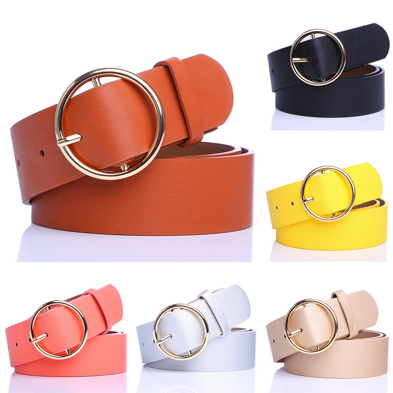 NIBESSER Solid Color Thin Skinny Waistband Adjustable Belt New Women Faux Leather Belts Leather Waist Belts For Women Jeans