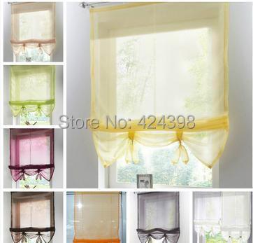 hermosa cortinas para ventanas de la cocina cortinas persianas romanas puede levantar caf balcn cortina
