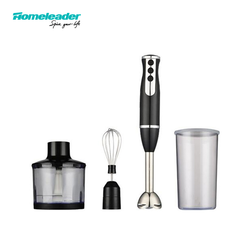 Homeleader 4 IN 1 Hand Blender Smart Stick Variable Speed Blender Mixer Stainless Steel K39-038 Food Processor for Household