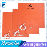 1PC Silicone Heater Pad 400x400mm 120V 1000W For Creality CR 10 S4 3D Printer Bed Adhesive Backing