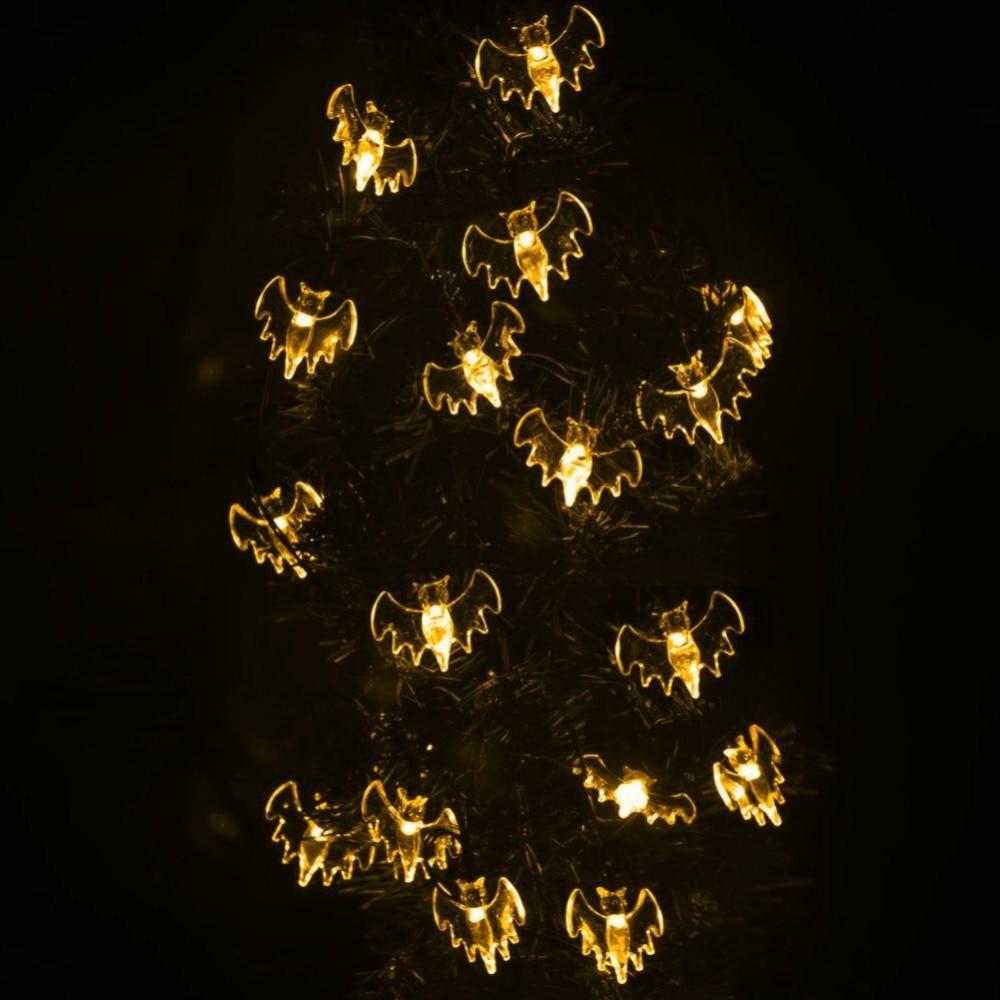 Domire Battery Operated LED Fairy String Lights 20 Blue Bat Lights Halloween Decoration Lights