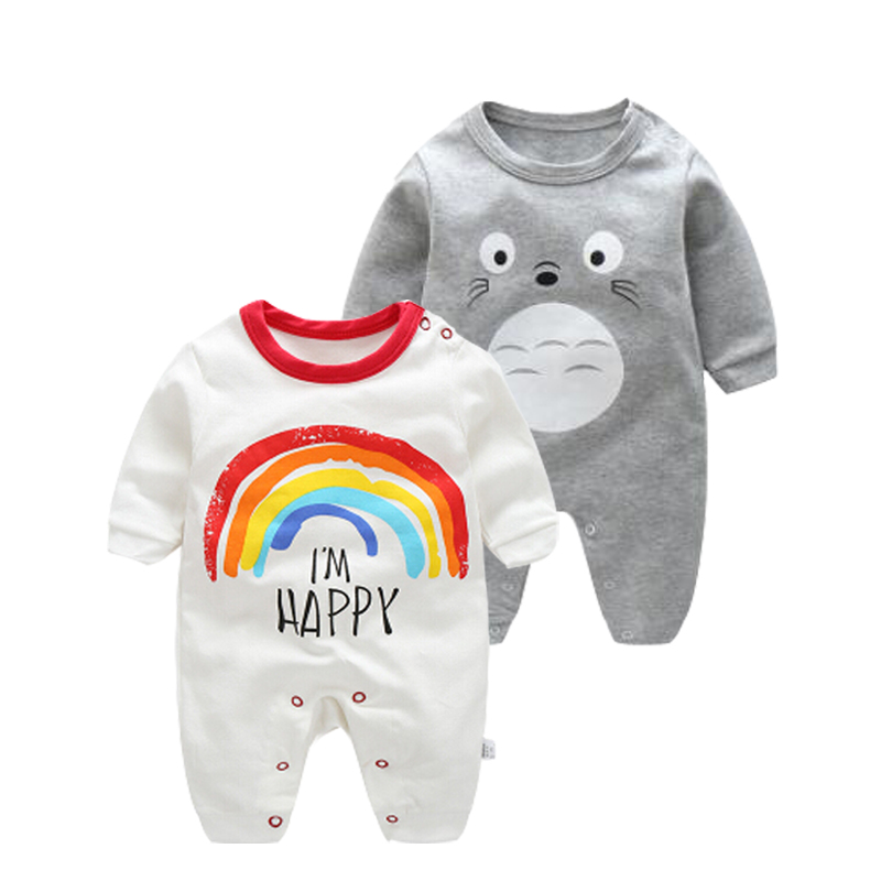 2019 lente herfst baby boy kleding pasgeboren katoen lange mouwen - Babykleding