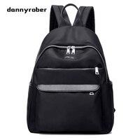 2017 Women Waterproof Nylon Backpack Zipper Backpack Female 3 Color Fashion Lady School Bags For Teenagers