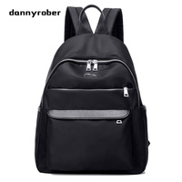 2017 Women Waterproof Nylon Backpack Zipper Backpack Female 3 Color Fashion Lady School Bags For Teenagers