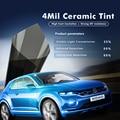 100x600 cm 4mil 35% VLT Zwart Super Clear Veiligheid/Beveiliging Film Nano Keramische Venster Tinten Vinyl