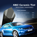 100x600 cm 4mil 35% VLT negro Super Clear seguridad/seguridad cerámica Nano tintes ventana vinilo