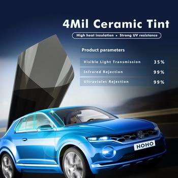 100x600cm 4mil 35%VLT Black Super Clear Safety/ Security Film Nano Ceramic Window Tints Vinyl