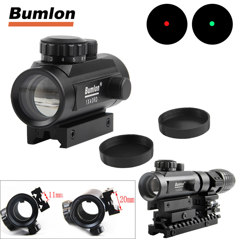 Holographic 1 x 40mm Airsoft Red Green Dot Sight RL5-0013-06