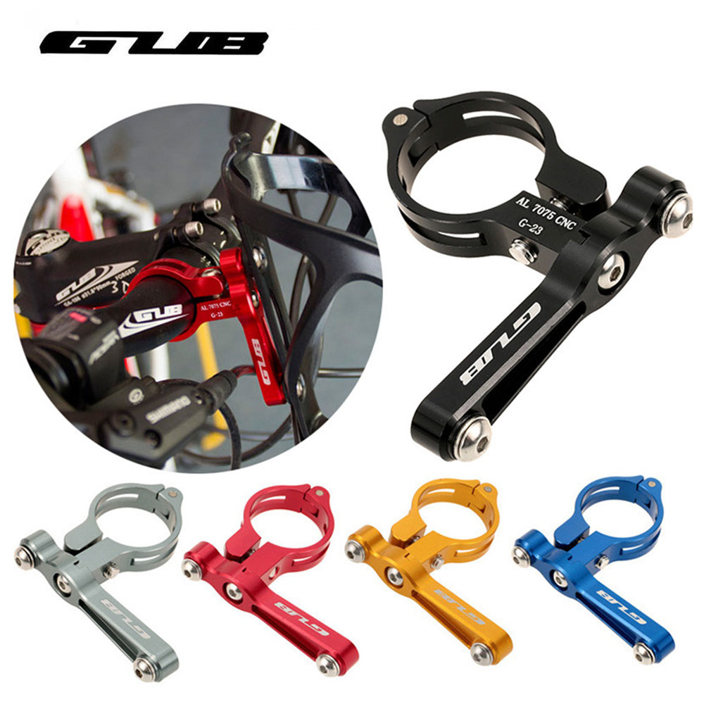 GUB G-23 Brand New Bike Bicycle Cycling Outdoor Water Bottle Clamp Cage Holder Adapter Support Transition Socket Handlebar Mount bicycle bike cycling water bottle holder base mount handlebar tube clip black page 3 page 5