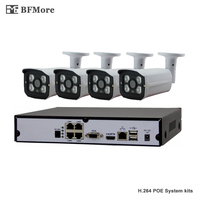 BFMore 4CH POE SONY IMAX323 1080P NVR Kit CCTV System IP Camera P2P IR IP66 Outdoor
