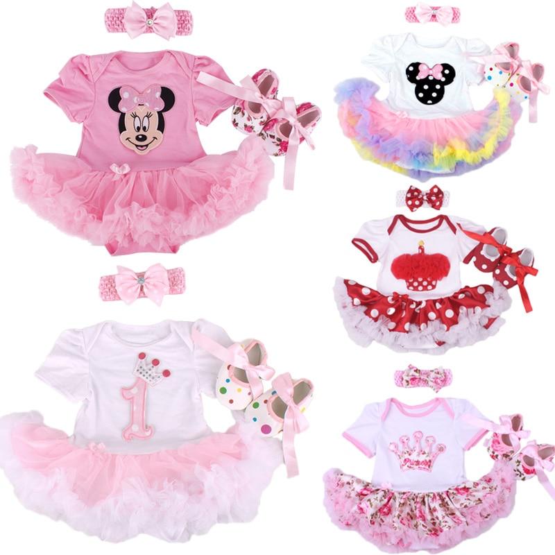 Christmas Baby Girl Infant 3pcs Clothing Sets Suit Princess Tutu Romper Dress Jumpsuit Xmas Bebe Party