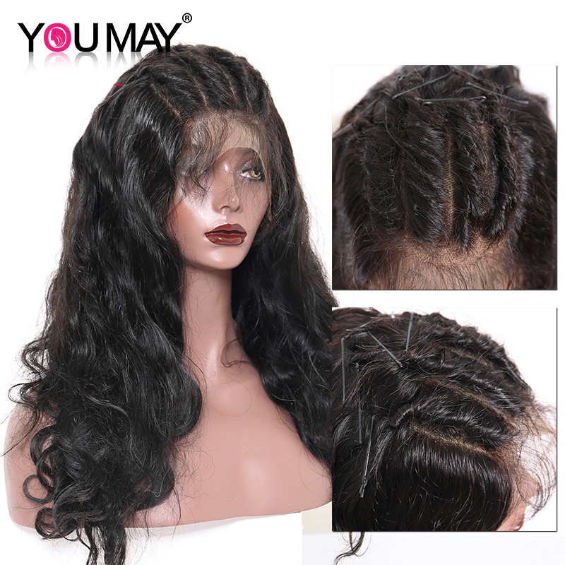 250 Density Lace Front Human Hair Wigs Pre Plucked Brazilian Body Wave 13x6 Lace Front Wigs For Women Remy You May Hair