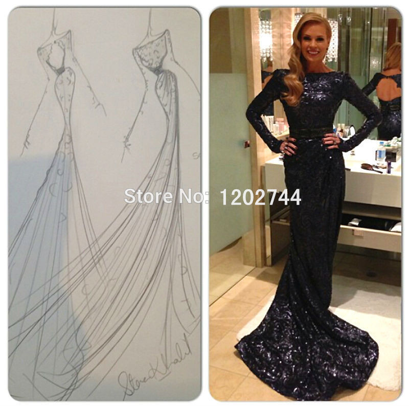 Popular Long Sleeve Black Sparkly Dress-Buy Cheap Long Sleeve ...