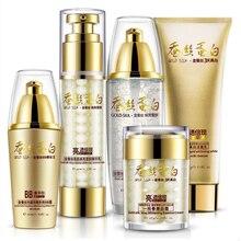 Gold Silk Tender Skin Makeup Set,Fashion Gift Box Cosmetic Kit,Moist Concealer BB Cream,Liquid Fundation Cream,Air Cushion Cream