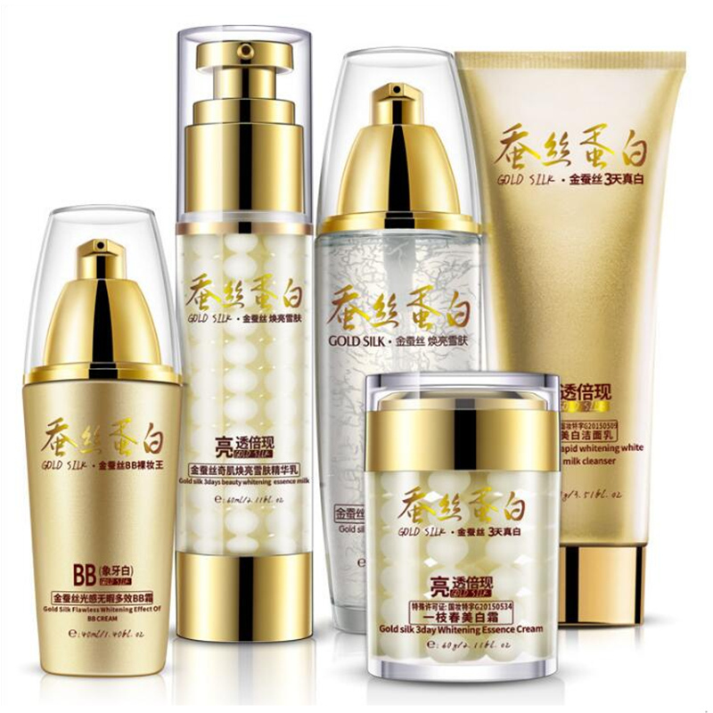 Gold Silk Tender Skin makeup set,Fashion Gift box cosmetic kit,Moist Concealer BB Cream,Liquid Fundation Cream,Air Cushion Cream