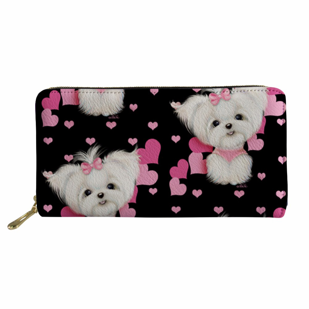 Women Wallet Lady Maltese Purse Coin Purses&Holders for Ladies Rfid PU Wallets Female Purses&Wallets Coin Purse 2018