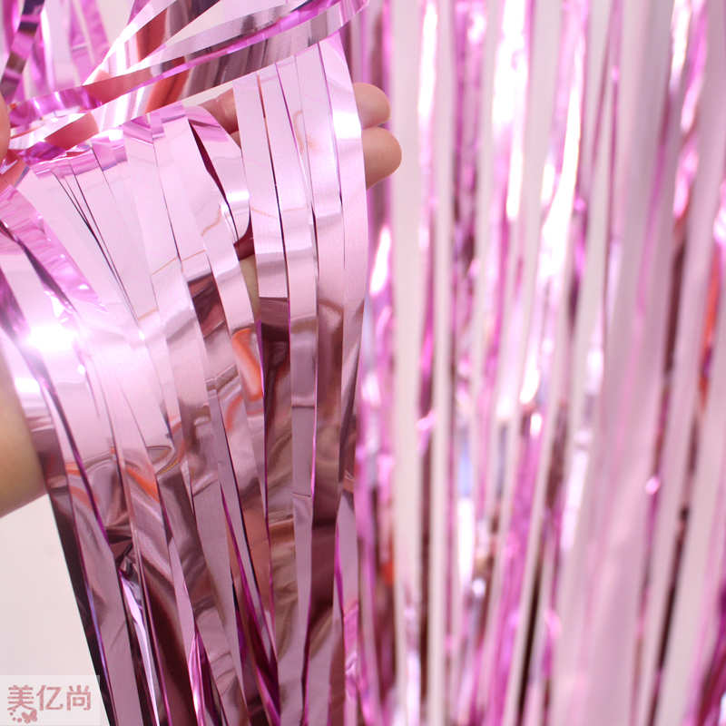 3pcs 245m092m drizzle streamers birthday party decorative items store window layout stage background wedding supplies