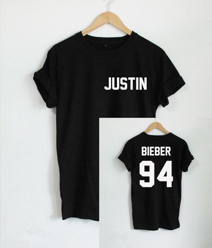 Aliexpress.com : Buy BTS 2017 Justin Bieber T Shirt Women Band ...