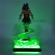 Dragon Ball Z Broly Super Saiyan Flying Power Up Led Light Anime Action Figure DBZ Collectible Toy Gift