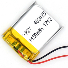 3,7 V 150 mAh Li-Polymer Перезаряжаемые Батарея 402025 Li-Po ионов для gps Bluetooth MP3 MP4 042025