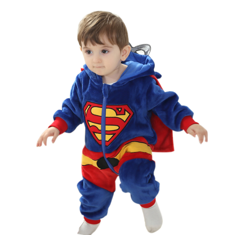Baby Romper animal Cute Character Costume Long Sleeve Boys And Girls Clothes Warm Velvet Jumpsuit Boys Outwear Clothes 3-24M